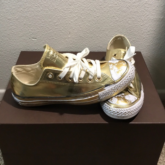Special Edition Gold Converse All Stars